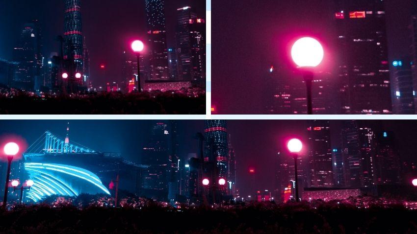 mettere-a-fuoco-una-foto-di -notte-punto-luminoso